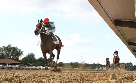 Cathryn Sophia wins the 2016 Princess of Sylmar Stakes at Parx Racing in Bensalem, Pennsylvania on September 3, 2016.
