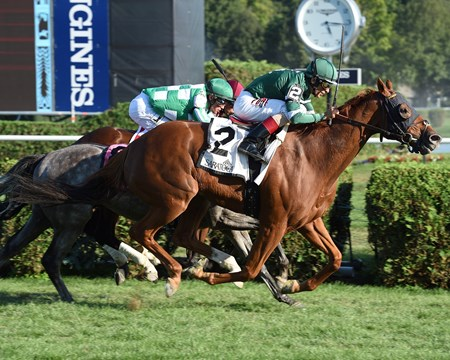Ring Weekend wins the Bernard Baruch Stakes at Saratoga Sept. 5, 2016.