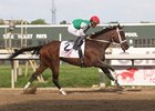 Cathryn Sophia wins the Princess of Sylmar Stakes at Parx Racing