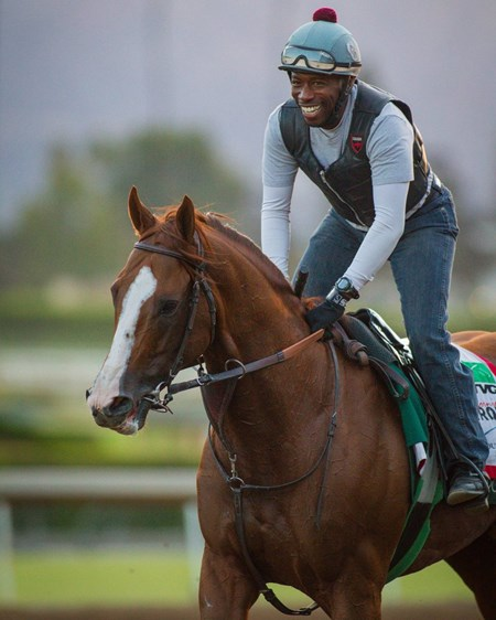 California Chrome on track at Santa Anita Sept. 27