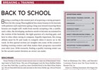 Magazine Feature Breaking & Training back to school