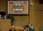 Hip 845, a colt by Curlin, sells for $1 million