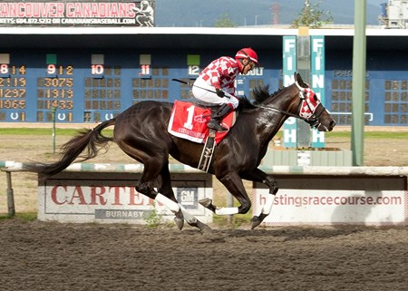 Sorryaboutnothing wins the 2016 British Columbia Derby