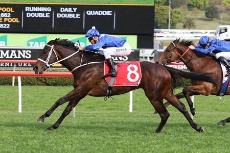 Winx wiins the 2016 Optic White Stakes