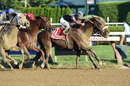 Shaman Ghost stretches for the win in the Woodward.