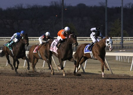 Texas Bling wins the Remington Park $300,000 Springboard Mile Sunday, December 09, 2012