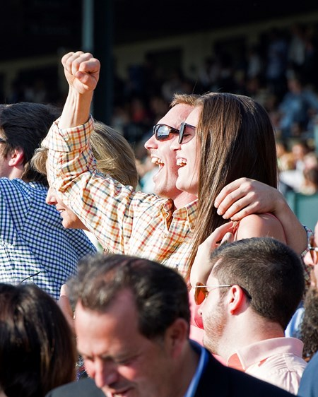 Winning fans - Keeneland, October 15, 2016