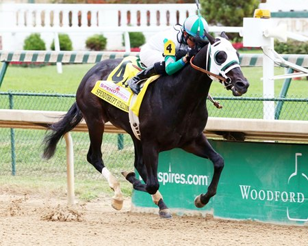 Warrior's Club wins the 2016 Spendthrift Stallion Stakes at Churchill Downs