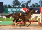 D'yer Mak'er splashes to his first win at Belmont Park