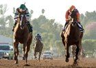 Stellar Wind (left) upset Beholder a second time on Oct 1