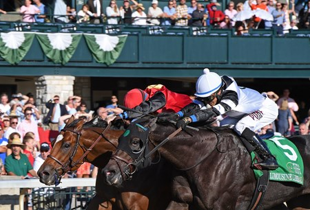 A.P. Indian with Joe Bravo wins Phoenix (gr. II) at Keeneland on , Friday Oct. 7, 2016  in Lexington, Ky.