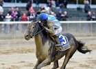 Joking wins the Vosburgh at Belmont Park