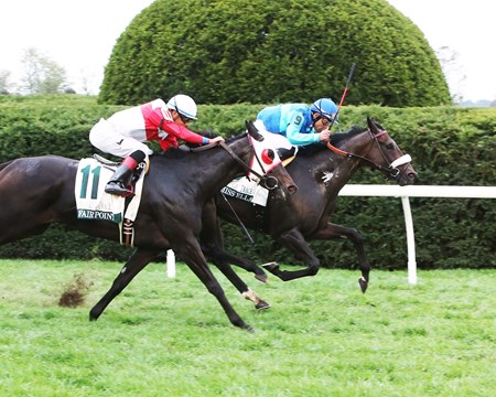 Miss Ella wins the 2016 Buffalo Trace Franklin County Stakes