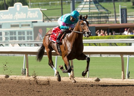 Gormley and Victor Espinoza win the Grade I $300,000 FrontRunner Stakes