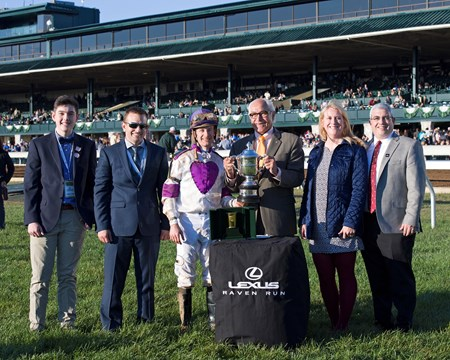 Lightstream with Julien Leparoux wins the Lexus Raven Run (gr. II) at Keeneland in Lexington, Ky., on Oct. 22, 2016.