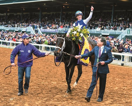Tepin with Julien Leparoux win the Breeders' Cup Mile at Keeneland on October 31, 2015.