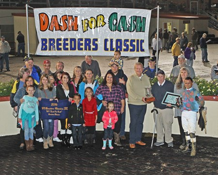 Greenway Court wins the 2016 West Virginia Dash for Cash Breeders' Classic Stakes