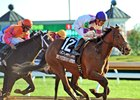 Lighstream winning the Lexus Raven Run at Keeneland