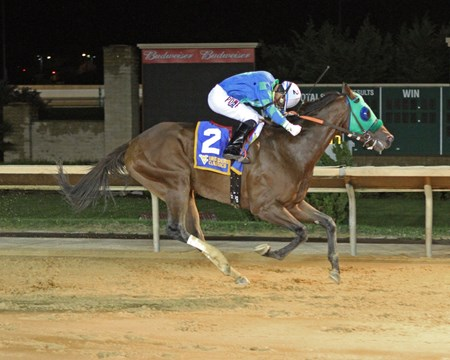 Slip the Cable wins the 2016 West Virginia Breeders' Classic Stakes