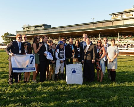 Miss Temple City wins the 2016 Shadwell Turf Mile - presentation