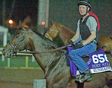 Runhappy prepares for Breeders' Cup Dirt Mile Oct. 29 at Santa Anita Park.
