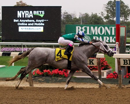 "Anchor Down rolls to victory in the Kelso<br><a target=""blank"" href=""http://photos.bloodhorse.com/AtTheRaces-1/At-the-Races-2016/i-Zpjnw8x"">Order This Photo</a>"