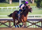 Masochistic worked six furlongs in 1:12 3/5 Oct. 6