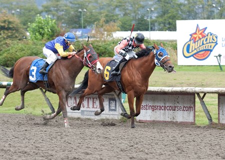 Killin Me Smalls wins the 2016 BC Premier's Handicap.