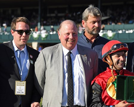A.P. Indian owner Richard Masson at Keeneland on Friday Oct. 7, 2016  in Lexington, Ky.