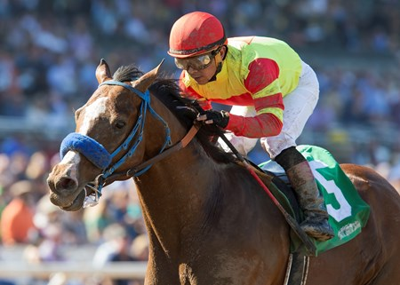 Silent Bird wins the 2016 Damascus Stakes