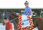Gunnevera after his Delta Downs Jackpot Stakes (gr. III) win