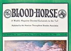 Color on the cover of The Blood-Horse for the first time: Albert Pease's portrait of Reeping Reward on Dec. 28, 1940