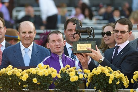 Celebrating Highland Reel's victory in the Breeders' Cup Turf