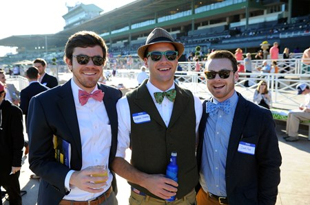 Guys in bow-ties at the Breeders Cup at Santa Anita, Saturday, November 5, 2016.