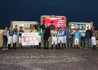 A winner's circle celebration Nov. 25 at Remington Park of Israel Ocampo's 1,000th career win.