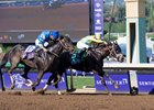Classic Empire holds off Not This Time to win the Breeders' Cup Juvenile