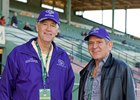Spain Burg's co-owners Dean Reeves (left) and Randy Hill at Santa Anita Park.