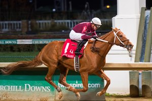 Caption: Gun Runner with Florent Geroux wins Clark Handicap (gr. I) on Nov. 25, 2016, at Churchill Downs.