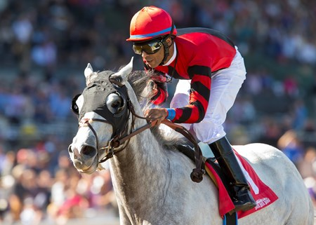 Scuba with Kendrick Carmouche wins the 2016 Marathon Stakes