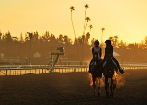Training at Santa Anita