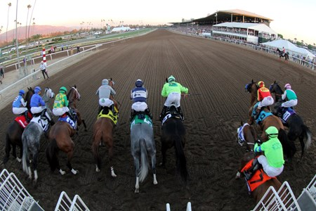 The start of the Breeders' Cup Classic at Santa Anita on November 5, 2016.