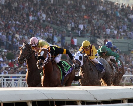 Finest City with Mike Smith win the Breeders' Cup Filly & Mare Sprint (GI) at Santa Anita on November 5, 2016.