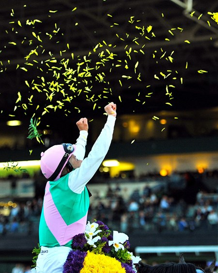 November 5, 2016: Mike Smith after winning the Breeders' Cup Classic