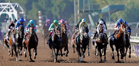 November 5, 2016: Start of the Breeders' Cup Juvenile