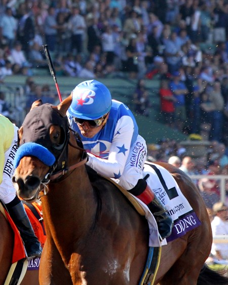 Drefong with Martin Garcia wins the Breeders' Cup Sprint (GI) at Santa Anita on November 5, 2016.