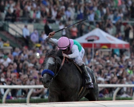 Arrogate with Mike Smith win the Breeders' Cup Classic (GI) at Santa Anita on November 5, 2016.