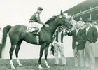 A Gleam after her 1951 Princess Pat Stakes victory.