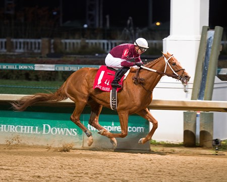 Gun Runner with Florent Geroux wins Clark Handicap (gr. I) on Nov. 25, 2016, at Churchill Downs.