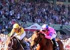 Valadorna (left) finishes second in the Breeders' Cup Juvenile Fillies (gr. I)