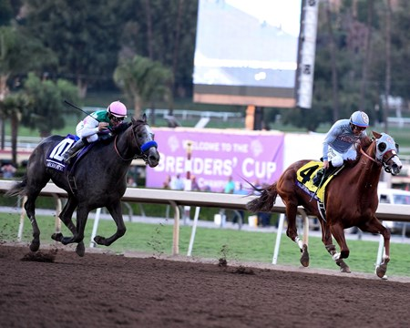 Arrogate runs down California Chrome to win the 2016 Breeders' Cup Classic